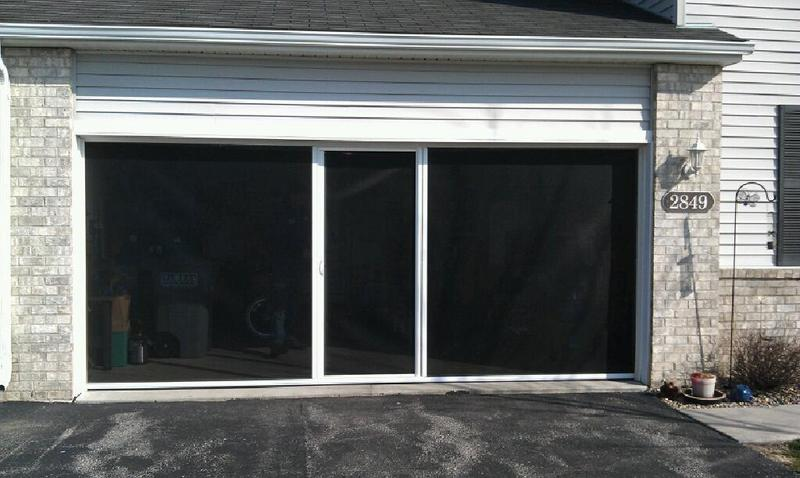 Garage door screens national overhead door for Genius retractable screen