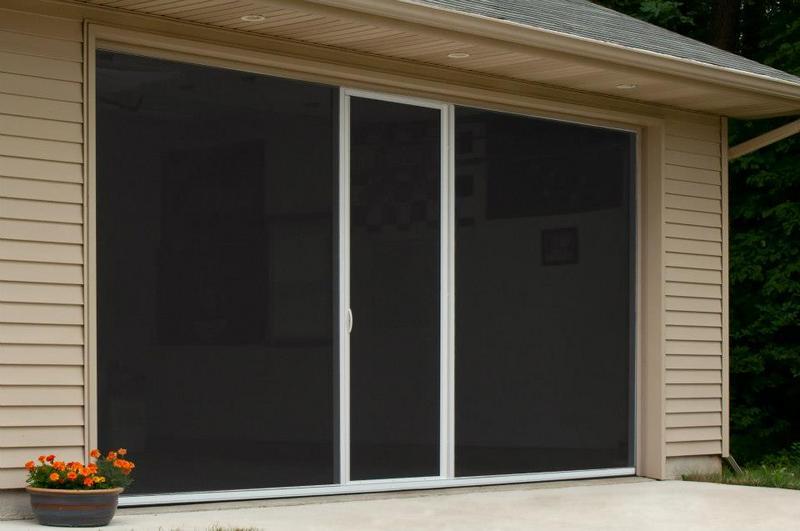 Lifestyle standard fiberglass screen without center door 6 for 18 x 8 garage door screen
