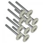 2″ Nylon Rollers 10-Ball Bearing Set Of 10